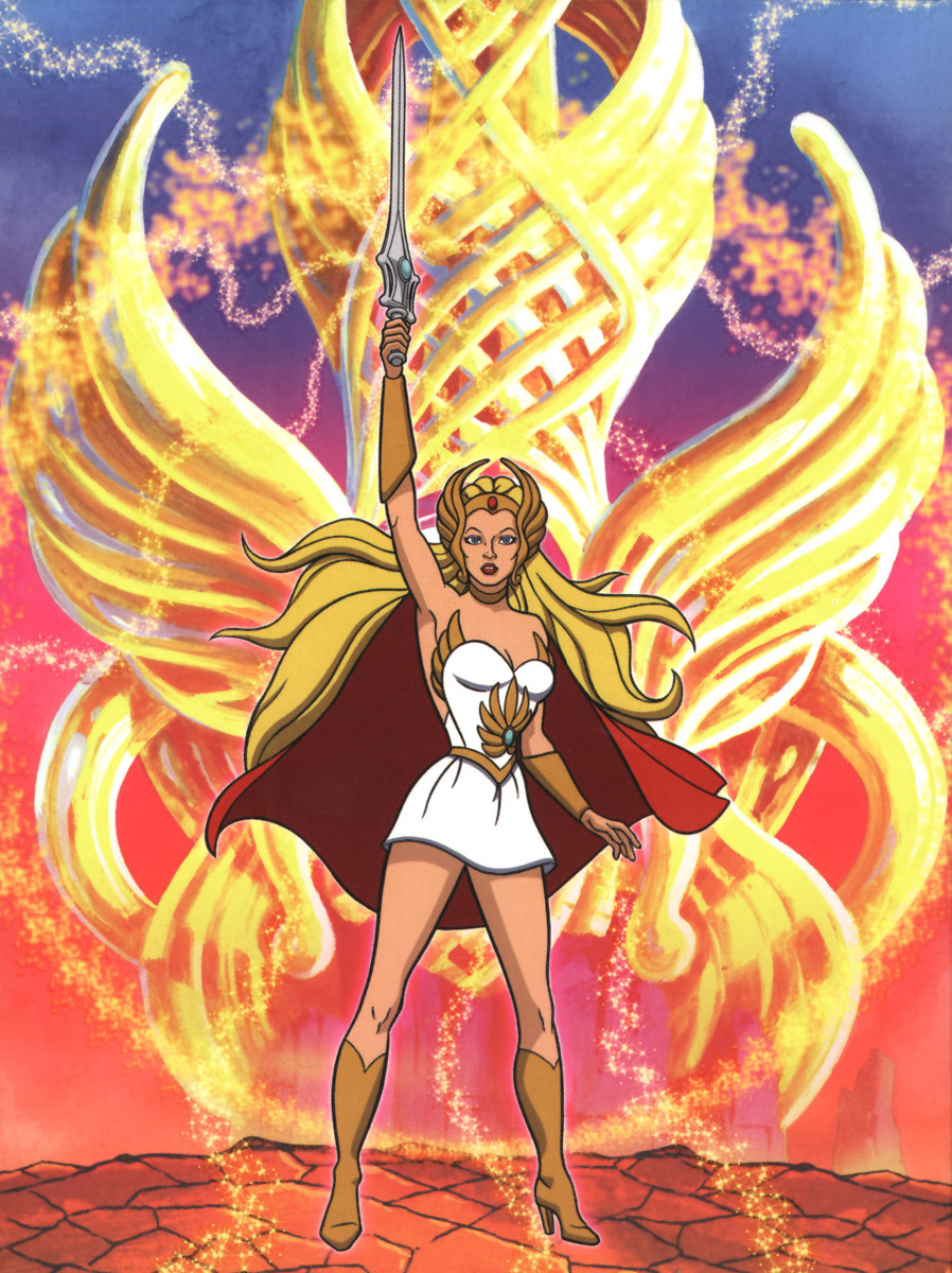 she the princess The show follows the adventures of adora, he-man's twin sister, who leads a group of freedom fighters known as the great rebellion in the fight to fr.